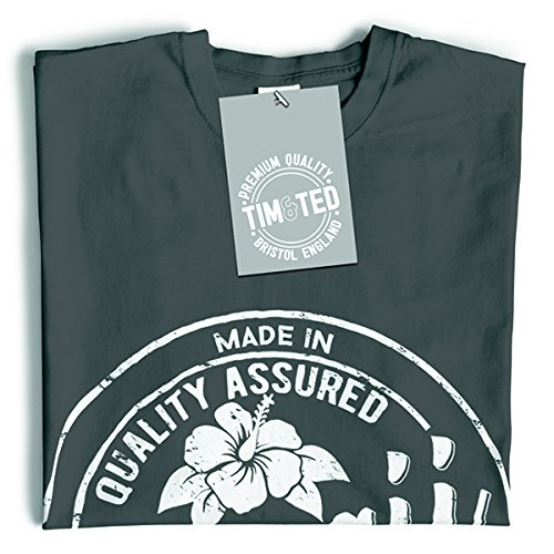 Tim and Ted Made in Hawaii Tropical Beach Honolulu Waikiki Distressed T-Shirt Da Donna