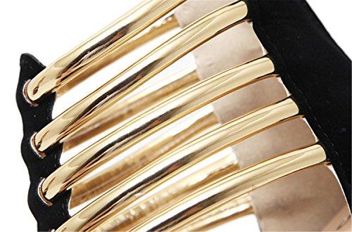 Sandalen Fisch Hochzeit Heels Mode Abend wasserdichte Stiletto Mund Party MNII Schuhe Gold Womens Plattform Prom Heeled schwarz Kitten Sommer Braut Damen q7SAw1I