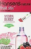 Hansen's Natural Berry Fruit Stix, 8 Packets (Pack of 6)