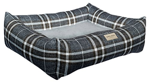 bluee Large bluee Large Bowl and Bone Republic Scott Dog Bed, Large, bluee