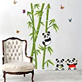 great bamboo wall decals HN Home Decor Mural Vinyl Wall Sticker Removable Cute Panda Eating Bamboo Nursery Room Wall Art Decal Paper