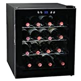 SMETA 16 Bottles Thermoelectric Mini Wine Cellar Beverage Beer Cooler Fridge Champagne Refrigerator with LED Display
