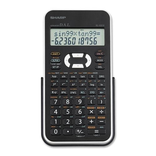 """Sharp EL531X Scientific Calculator - 272 Functions - 2 Line(s) - 12 Character(s) - LCD - Battery Powered - 1.5"""" x 3.3"""" x 6"""" - Black, White"""