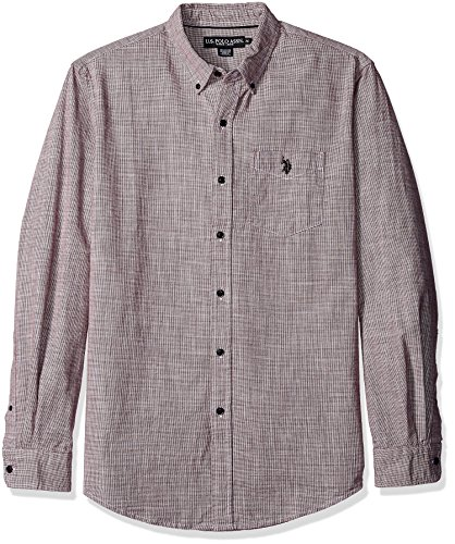 us-polo-assn-mens-long-sleeve-classic-fit-hounds-tooth-button-down-woven-shirt-seagrams-burgundy-med