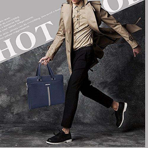 ELEAR® Reisen Herren Vintage Leder über den Körper Business Messenger Aktentasche Arbeit Tasche Laptop-Tasche horizontal Schwarz
