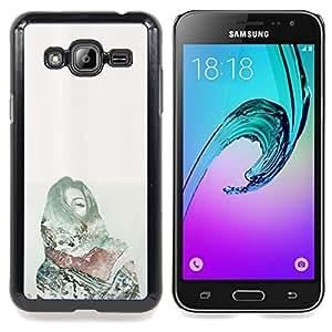 For Samsung Galaxy J3(2016) J320F J320P J320M J320Y Case , Dolor Deep Dark Green Money - Diseño Patrón Teléfono Caso Cubierta Case Bumper Duro Protección Case Cover Funda