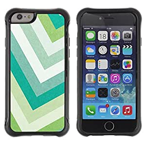 "All-Round Hybrid Rubber Case Hard Cover Protective Accessory Compatible with Apple iPhone 6PLUS ¡ê¡§5.5"") - pastel green colors teal white"