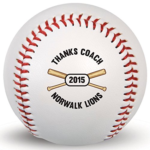 Personalized Printed Thanks Coach Baseball | Custom Baseballs by ChalkTalk Sports (Coach Baseball Thanks)