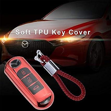 6 Funda de Silicona para Llave Mazda Cover Carcasa de TPU Cromo Suave para Mazda 3//5 Plata MX5 MX-5 Protecci/ón Llaveros Mando a Distancia RX8 CX-5 CX-9 BT50 CX-7