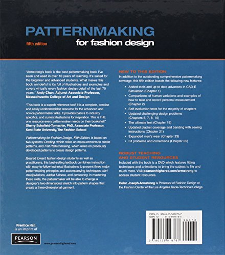 Patternmaking For Fashion Design 5th Edition Import It All