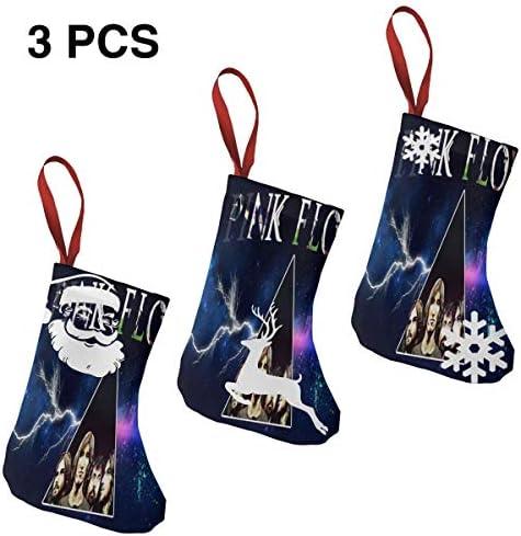 クリスマスの日の靴下 (ソックス3個)クリスマスデコレーションソックス ピンク フロイドPink Floyd クリスマス、ハロウィン 家庭用、ショッピングモール用、お祝いの雰囲気を加える 人気を高める、販売、プロモーション、年次式