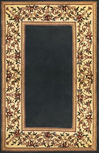 KAS Oriental Rugs Ruby Collection Floral Border Area Rug, 5'3