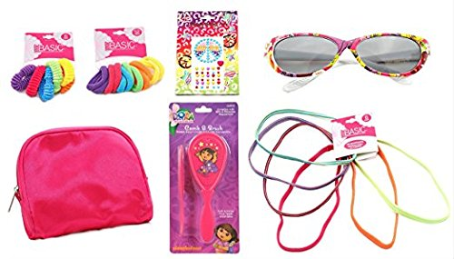 Dora the Explorer Red Hair Brush and Comb Hair Ties and Elastic Hair Bands - Sunglasses - Body Jewelry Tattoo