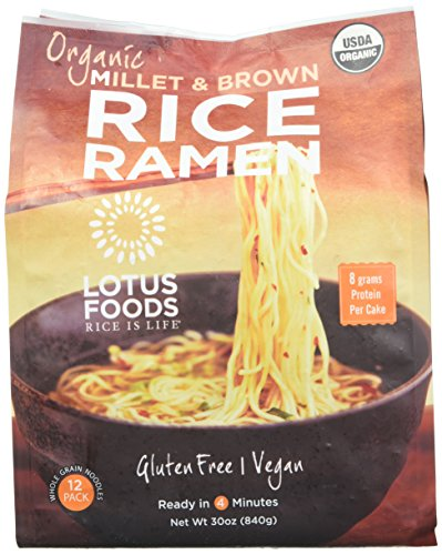 Lotus Foods Organic Millet & Brown Rice Ramen, 12 Pack (Pack of 2)