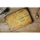 2015 NewI Love You Wedding Guestbook | Kraft Scrapbook Album | 3-Ring binder | Memory & Wedding Anniversary | Sketchbook | Birthday Gift