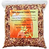 100% Natural Cedar Shavings   Mulch   Great for Outdoors or Indoor Potted Plants   Dog Bedding (4 Quart)