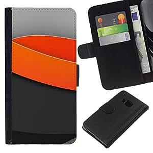 All Phone Most Case / Oferta Especial Cáscara Funda de cuero Monedero Cubierta de proteccion Caso / Wallet Case for HTC One M7 // Minimal light waves