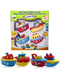 3 Bees & Me Bath Toys for Boys and Girls - Magnet Boat Set for Toddlers & Kids - Fun & Educational BOBEBE Online Baby Store From New York to Miami and Los Angeles