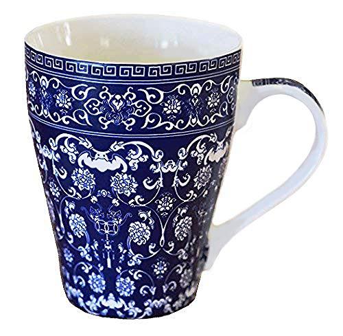 Blue And White Porcelain Coffee Mug Tea Cup - China Mug -