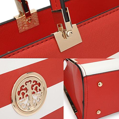 Blue Satchel w Purse woman Designer Briefcase Stylish Shoulder for White Lady Trendy wallet bag Holiday gift 6wdBnnHFqx