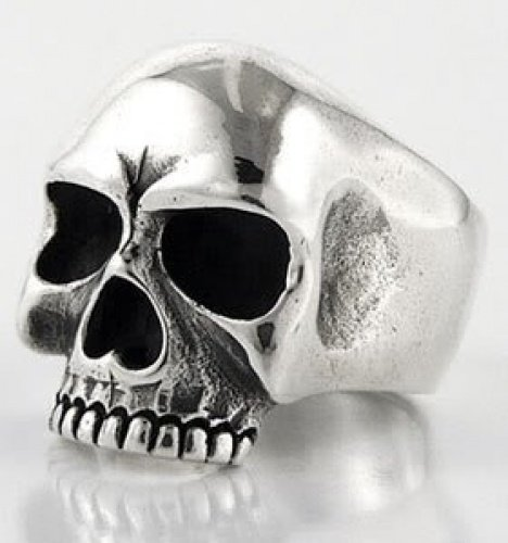 (1 pc of KEITH RICHARDS SKULL 100% SOLID 925 STERLING SILVER RING ~BRAND NEW Code : 1055 (Ring Size : 6