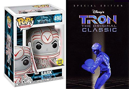 Evil Glow Tron Disney Movie & Sark Figure Set 2 Disc Special Edition Movie + Documentary DVD & Pop Glow Vinyl Collectible Figure