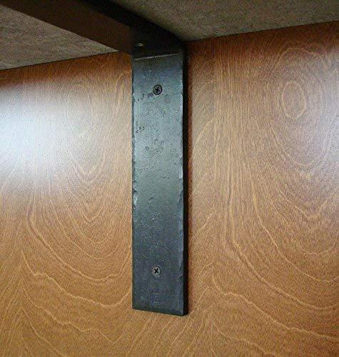 (Rustic Wrought Iron Forged Metal Corbel Farmhouse Wabi-Sabi Granite Quartz Marble Countertop Support Bracket Mantel)