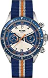 Tudor Heritage Chrono 70330B Stainless Steel Blue Fabric NATO Strap
