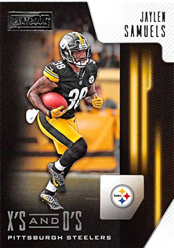 2018 Playbook Xs and Os Football #32 Jaylen Samuels Pittsburgh Steelers Official NFL Rookie Insert Card Made by Panini