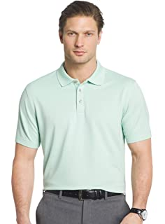 87eb9b5fd3cb7 Van Heusen Mens Short Sleeve Interlock Polo Shirt at Amazon Men s ...