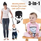 Umin 3-in-1 High Chair Belt,Toddler Safety Walking Harness Wrap,Shopping Cart Safety Strap,Black