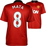 Juan Mata Manchester United Autographed Red Jersey - ICONS - Fanatics Authentic Certified - Autographed Soccer Jerseys