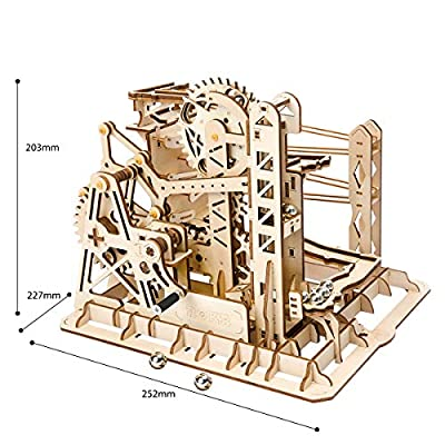 Rowood 3D Wooden Marble Run Puzzle Craft Toy, Gift for Adults & Teen Boys Girls, Age 14+, DIY Model Building Kits - Lift Coaster: Toys & Games