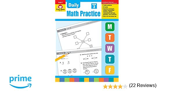 Workbook first grade worksheets pdf : Amazon.com: Daily Math Practice, Grade 3 (0433599268856): Evan ...