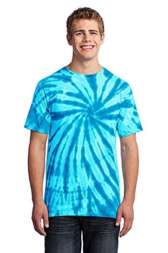 (Port & Company Unisex Adult Tie Dye Camp Tee X-Large Turquoise)