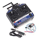 2.4G FS-CT6B 6 CH Radio Model RC Transmitter & Receiver PPM/GFSK Heli/Airplane/Glid 12V DC