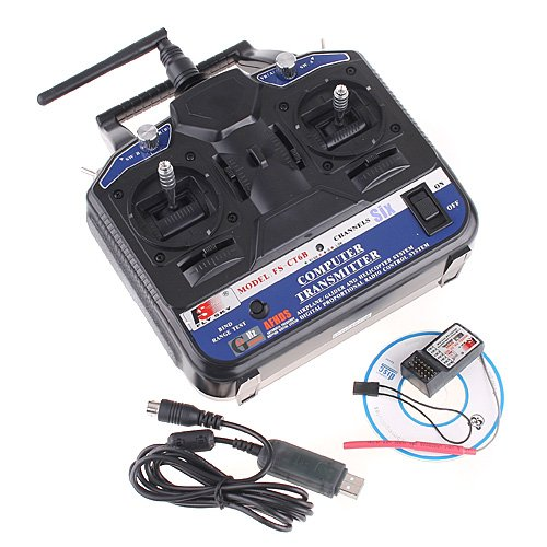 2.4G FS-CT6B 6 CH Radio Model RC Transmitter & Receiver PPM/GFSK Heli/Airplane/Glid 12V DC - 4 Channel Rc Radio