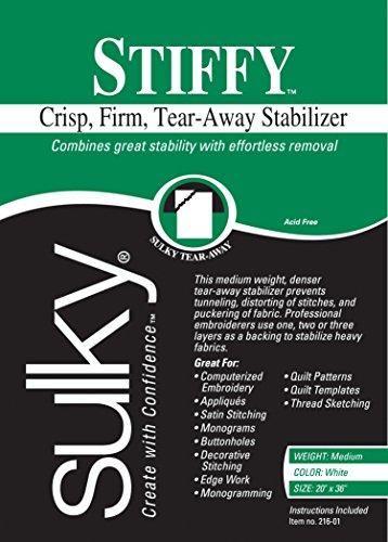(Sulky 216-01 Stiffy Tear, Away Stabilizer, 20
