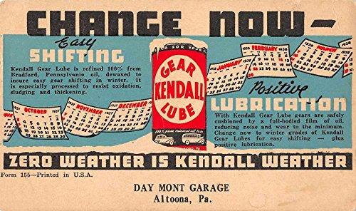 Altoona Pennsylvania advertisement Kendall Gear Lubrication antique pc Z42503