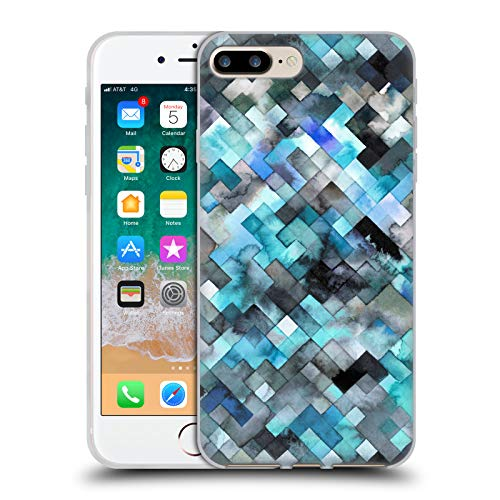 Official Ninola Blue Moody Geometry Soft Gel Case for iPhone 7 Plus/iPhone 8 Plus