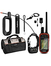 Garmin Alpha 100 TT15 Combo Hunting Armor Bundle w/PlayBetter Portable Charger, Silicone Case, Screen Protectors & Tether | Garmin Field Bag, Birdseye Satellite (Black Case)