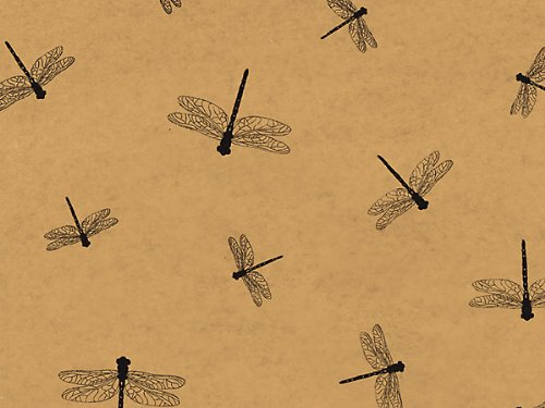 Dragonfly/Dragonflies Printed Tissue Paper for Gift Wrapping, 24 Sheets by Rustic Pearl Collection