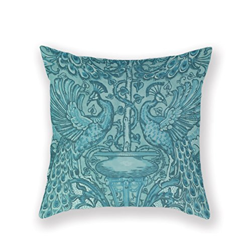 VintageSh0p Victorian Flowers Victorian Home Decor Victorian Wallpaper Pattern Pillow Case Throw Pillow Cover Customized Pillowcase Decorative Pillow Case Pillow Covers Cotton,18X18Inches