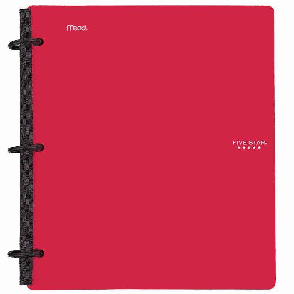 Five Star Flex Hybrid Notebinder, 1-1/2 Inch Binder, Notebook and Binder All-in-One, Red (72399) by Five Star