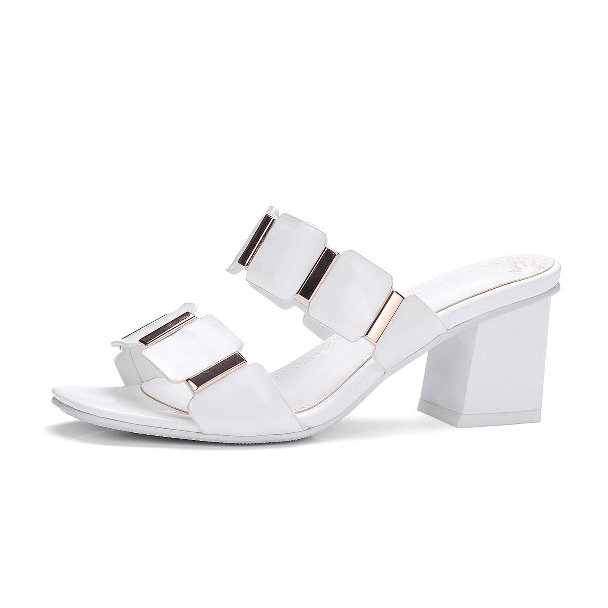 Sandales pour pour Blanc Femmes, B00MY4MVGQ Talons Hauts, Pantoufles Blanc 8936584 - boatplans.space