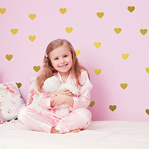 Set-of-108-pieces-2-Heart-Wall-Decor-Sticker-DIY-Childrens-Wall-Decor-Decals-Removable-Vinyl-Kids-Room-Baby-Boys-Grils-Bedroom-Wall-Sticker