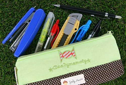 Verde e Marrone Candy Pencil Case (OP555501)