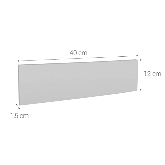 Paragolpes de Espuma de 40 x 12 x 1.5 CM kwmobile Protector de Espuma para Pared de Garaje Set de 2 Protectores para Puerta de Coche
