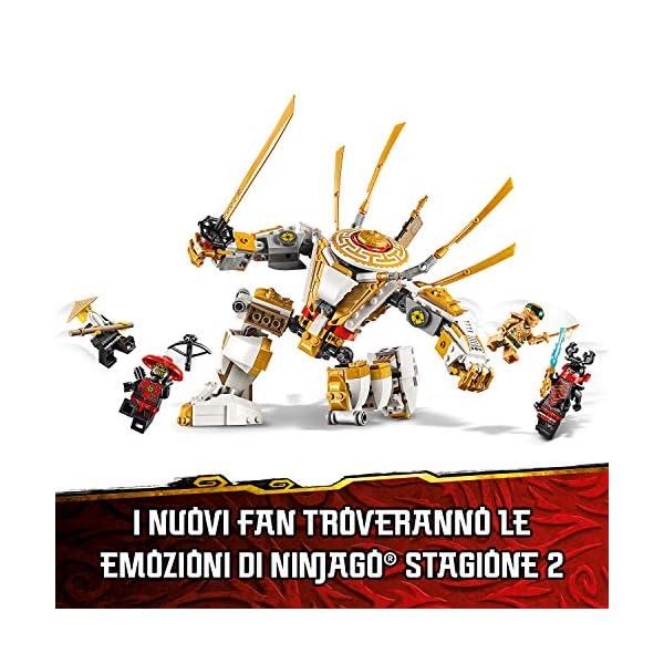 LEGO Ninjago Mech Dorato con Katana e 4 Minifigure: Lloyd, Wu e Generale Kozu, Set di Costruzioni Ricco di Dettagli per… 5 spesavip