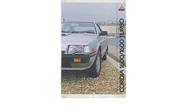 Amazon.com: 1983 Mitsubishi Colt Cordia 1600 & Turbo Brochure England: Entertainment Collectibles